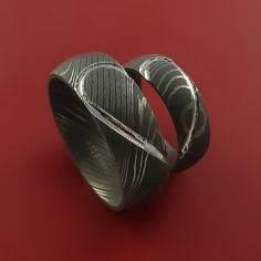 Matching Damascus Steel Heart Carved Ring by StonebrookJewelry, $524.92