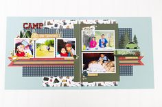 August Projects-3355 Scrapbook Pages, Scrapbook Layouts, Scrapbooking, Echo Park Paper, Fish Camp, Go Camping, Happy Campers, The Great Outdoors, Letting Go