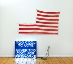 Too Cool To Vote. Never Too Cool for Fireworks - Abduzeedo