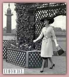 1956 - Balenciaga ensemble by Philippe Pottier for l'Officiel