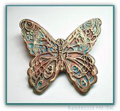Butterfly Focal Bead Pendant. $14.00, via Etsy.