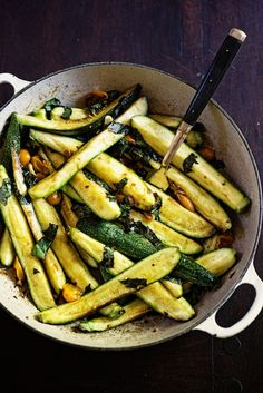 Zucchini side dish--make at home. I like her website too.
