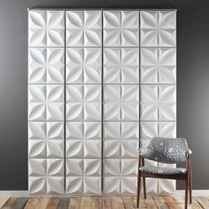 Inhabit's Hanging Chrysalis Wall Flats are the original Wall Panels. Inhabit is your source for environmentally friendly modern furnishings for your home. Pvc Wall Panels, Decorative Wall Panels, 3d Panels, Modern Spaces, Modern Wall, Modern Room, Modern Decor, 3d Wall Tiles, Temporary Wall