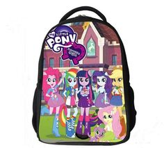 533d6046c 2017 new style cotton my little pony child school bags for Teenagers Girls  Backpack Kids School Bags Horse Bag Child Mochila