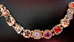 Beautiful Estate 14K Gold Slide Bracelet