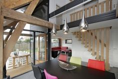 wooden construction interior accent house