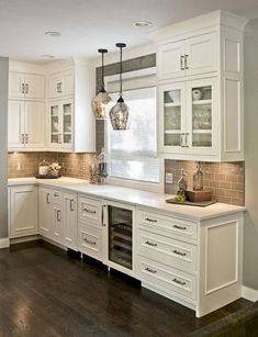 48 Rustic Farmhouse Kitchen Cabinets Makeover Ideas - Page 46 of 48 - Decorating Ideas - Home Decor Ideas and Tips Farmhouse Kitchen Cabinets, Modern Farmhouse Kitchens, Kitchen Cabinet Design, Kitchen Redo, New Kitchen, Home Kitchens, Rustic Farmhouse, Kitchen Ideas, Awesome Kitchen
