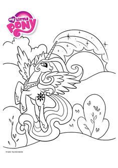 Coloriage my little pony little pony pinterest my - Coloriage princesse celestia ...