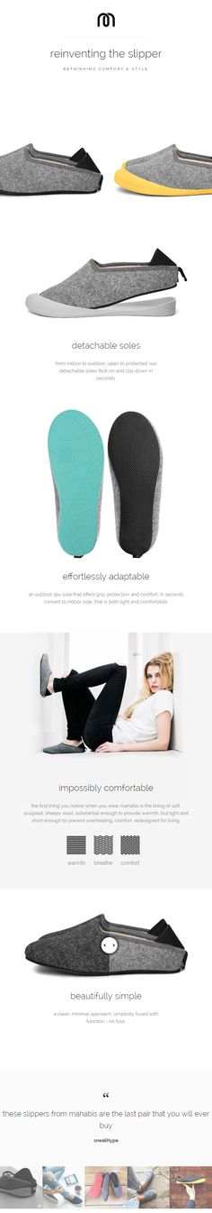 detachable soles // from indoor to outdoor, open to protected. our detachable soles flick-on and clip-down in seconds // effortlessly adaptable // an outdoor tpu sole that offers grip, protection and comfort. in seconds convert to indoor sole, that is both light and comfortable. impossibly comfortable the first thing you notice when you wear mahabis is the lining of soft, sculpted, sheeps wool, substantial enough to provide warmth, but light and short enough to prevent overheating.