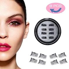 217f5c24982 Magnetic Eyelashes – Ultra Thin Fiber Reusable Best Fake Lashes Extension  for Natural, Perfect for Round Eyes & Deep Set Eyes Pairs Pieces)