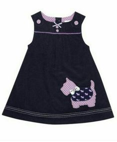 Navy Scottie Dog Jumper - Infant, Toddler & Girls by JoJo Maman Bébé Toddler Dress, Toddler Outfits, Baby Dress, Kids Outfits, Infant Toddler, Toddler Girls, Little Dresses, Little Girl Dresses, Girls Dresses