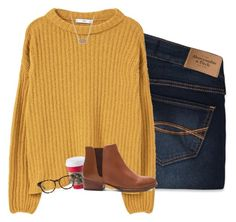 """""""sooo ready for sweater weather!!"""" by i-am-bryana ❤ liked on Polyvore featuring Abercrombie & Fitch, MANGO, Seychelles, Madewell and Kendra Scott"""