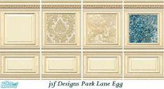jsf Designs ParkLaneEgg Panels #Georgian #Regency #Victorian #paneling #damask #parklane #TS2 #thesims2 #customcontent #cc