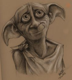 Dobby I love him so much! dibujos a lapiz faciles dobby by on We Heart It Harry Potter Painting, Harry Potter Artwork, Harry Potter Drawings, Harry Potter Tattoos, Harry Potter Wallpaper, Harry Potter Quotes, Harry Potter Fan Art, Harry Potter Fandom, Harry Potter Characters