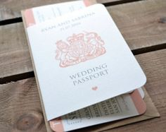 Passport boarding pass wedding invitation by DivaGoneDomesticToo