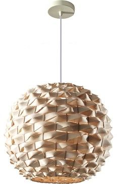 Feiss Denmark 1-Light Natural Bamboo Chandelier contemporary-chandeliers