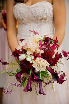 Purple and Burgundy Fall Bouquet | photography by http://www.peppernix.com