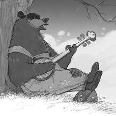 Another quick sketch, Banjo Bear. #characterdesign #bears #art #artistoninstagram #banjo