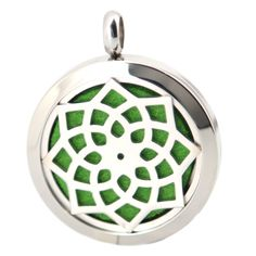 10pcs Round Silver Lotus Flower 30mm Stainless Steel Essential Oils Aromatherapy Diffuser Locket With Free chain and Pads