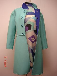 vintage pucci dress and blue reversible coat jacket | Flickr - Photo Sharing!