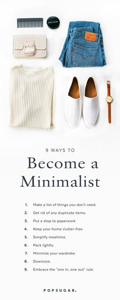 9 Ways to Be a Minimalist Embracing a minimalist lifestyle can mean a healthier body mind and home and getting rid of what you don't need can be pretty cathartic. The post 9 Ways to Be a Minimalist appeared first on Gesundheit. Minimalist Lifestyle, Minimalist Interior, Minimalist Bedroom, Minimalist Decor, Minimalist Fashion, Being A Minimalist, Minimalist Clothing, Minimalist Apartment, Minimalist Living Tips