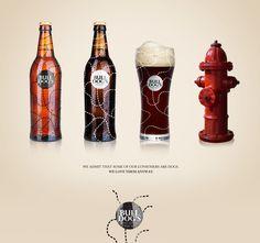 Bull Dog's Beer Brand Concept and Packaging Design Beer Brands, Hot Sauce Bottles, News Design, Whiskey Bottle, Packaging Design, Advertising, Ads, Bratislava, Bulldogs