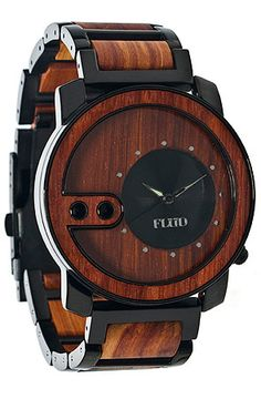 Flud Watches The Exchange Watch in Red Wood