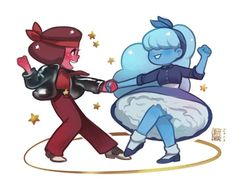 Steven universe: Ruby and sapphire