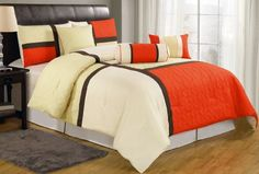 7-pieces Orange Beige Quilted Patchwork Comforter Set Queen Size Chezmoi Collection http://www.amazon.com/dp/B00FP2ZM4W/ref=cm_sw_r_pi_dp_Jbxkub1NY4H8J