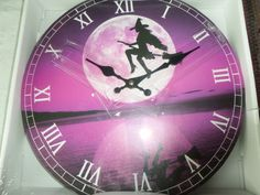 A bit of witchy humour! A fun clock with witch on a broomstick. This would make a good present for any Witch with a sense of humour!   £20.00, including postage and packaging.   http://www.greengoddessearth.co.uk/