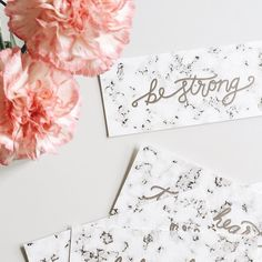 """Spreading love, joy and strength with Belle & Union's Southern Grace™: Be Strong bookmark card. """"Have I not commanded you? Be strong and courageous. Do not be afraid; do not be discouraged, for the Lord your God will be with you wherever you go."""""""