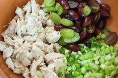 Pioneer Woman's chicken salad. Hit the spot for a poolside picnic. Sub'd tarragon for dill, walnuts for almonds.