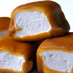 caramel-wrapped marshmallows..