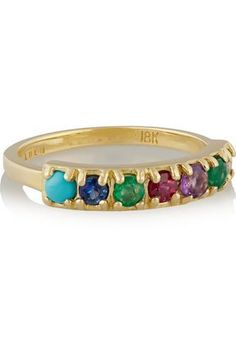 #covetmeDearest 18-karat gold multi-stone ring #covetme #lulufrostcode