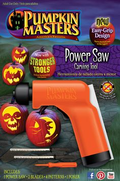 Your Detailed Pumpkin Carving Pattern Doesn T Stand A Chance When You Use The Help Of Masters Saw To Easily Adorn Design