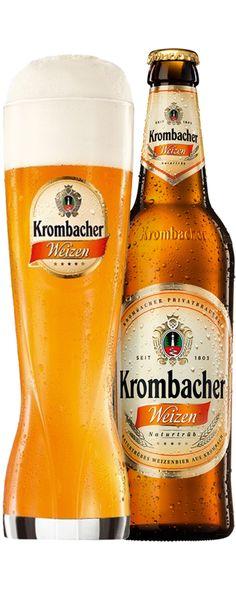 Krombacher Weizen | Krombacher Lager Beer, Beer Bar, Malta, Beers Of The World, Beer Label, Oclock, Craft Beer, Beer Bottle, A Table