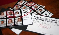 mug shot line-up thank you cards from Nancy Drew party. Maybe could use for murder mystery halloween party? Cop Party, Police Party, Spy Birthday Parties, 11th Birthday, Birthday Ideas, Nancy Drew Party, Detective Party, Party Time, Party Fun