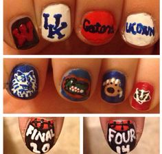 Other March Madness nails I did