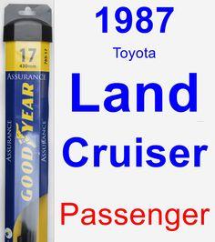 Passenger Wiper Blade for 1987 Toyota Land Cruiser - Assurance