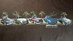 Classic Cars Pickup Trucks 100% Cotton Brown T Shirt XXL Made In Detroit  #NewportBlue #GraphicTee