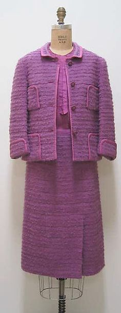 Suit, House of Chanel, French, wool and silk, 1962-63