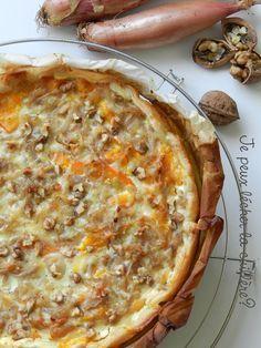 La tarte potimarron, échalotes, comté et noix