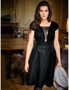 Guido Maria Kretschmer - Chiffonkleid schwarz im heine Online-Shop kaufen 8364ce574b