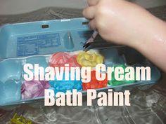 The Chocolate Muffin Tree: Super Easy Shaving Cream Bathtub Paint