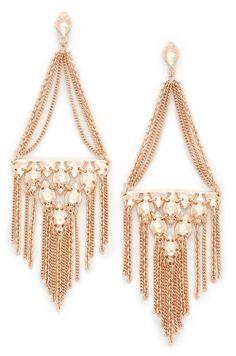Kendra Scott Mandy Statement Earrings in Rose Gold