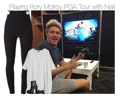 """""""Playing Rory McIlroy PGA Tour with Niall"""" by pizza4life ❤ liked on Polyvore featuring Givenchy, Monki, Forever 21 and Jeffrey Campbell"""