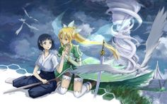 Sword Art Online - Image Thread (wallpapers, fan art, gifs, etc.) - Page 61 - AnimeSuki Forum Sword Art Online Weapons, Leafa Sword Art Online, Leafa Sao, Kirito, Another Anime, Online Anime, I Love Anime, Online Images, Manga
