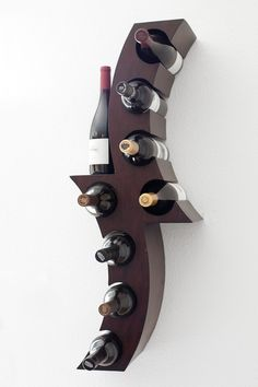 home_decor - 17 Functional Wine Storage Items That Will Fit In All Styles Cool Wine Racks, Unique Wine Racks, Modern Wine Rack, Wine Storage, Storage Ideas, Bottle Holders, Wood Design, Decorating Your Home, Contemporary