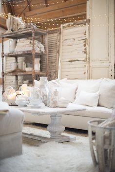 White on white home decor ideas | White Living Room Design Idea