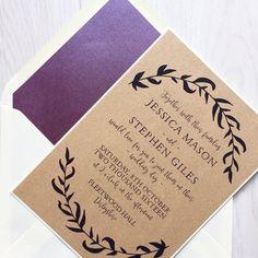 Paquete de invitación de boda rústica invitación por Creationery